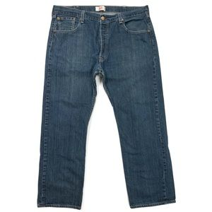 Levi's 501 Button Fly Straight Work Jeans 40Wx30L